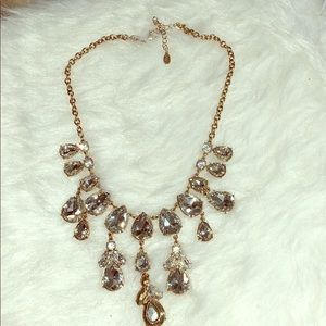 Aldo gold and rhinestones necklace